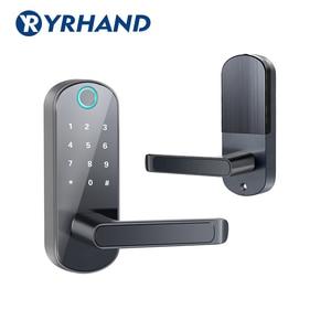 Image 3 - Смарт замок TTlock с отпечатком пальца, wifi приложение с водонепроницаемой кнопочной клавиатурой, электронный дверной замок, биометрический замок с дистанционным управлением