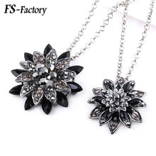 2019 Punk Retro Black Dahlia Pendant Necklace Avengers Spiderman Crystal Flower Choker Badge Pins Jewelry