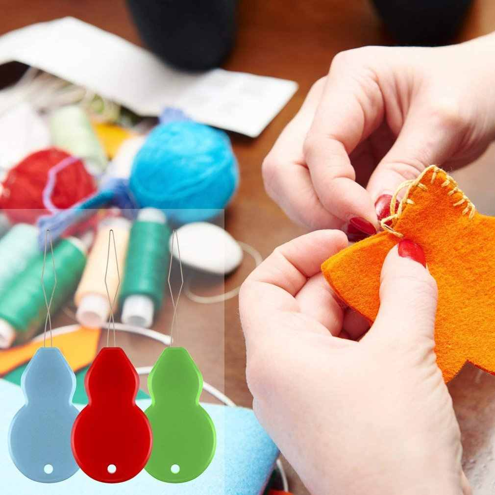 20PCS Sewing Stitch Bow Wire Needle Threader Insertion Household Tool Colorful Hand Craft Plastic Sewing Machines #Pennytupu