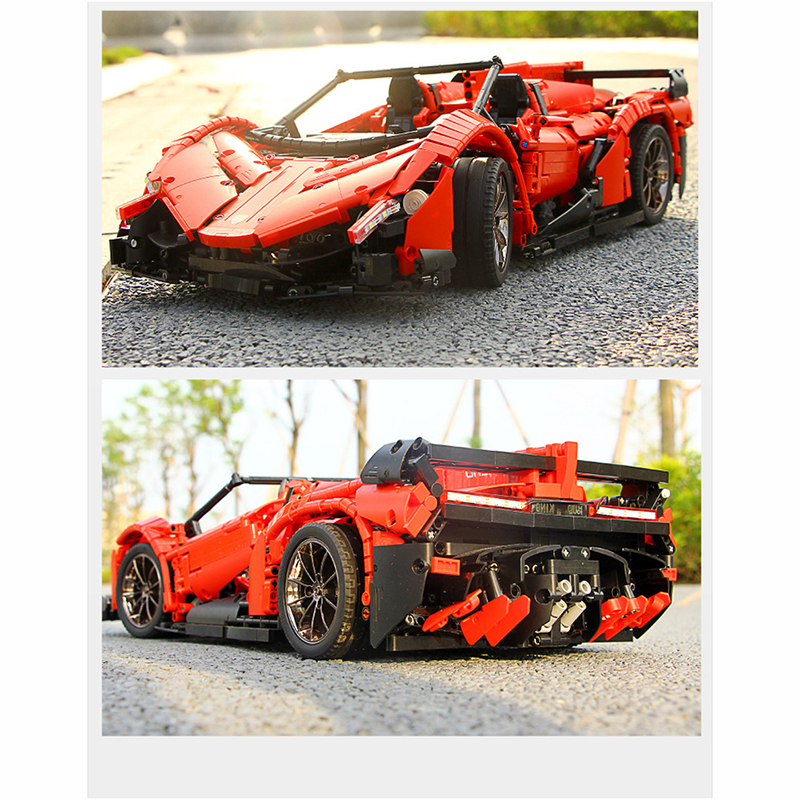 13079 poison RC Car MOC 10559 Veneno Roadster Motor Power Functions Fit App for legoing Technic Building Blocks Bricks Toys Gift 24