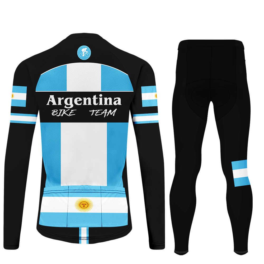 WAMNI النساء طويلة الأكمام زي ركوب الدراجات المقالي دراجة هوائية جبلية الأرجنتين الذكور دراجة فريق الدراجات جيرسي مجموعة blusas mujer دي مودا 2019