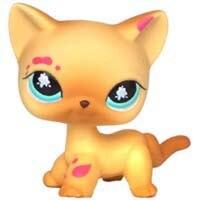Лпс стоячки кошки Игрушки для кошек lps, редкие подставки, маленькие короткие волосы, котенок, розовый#2291, серый#5, черный#994,, коллекция фигурок для питомцев - Цвет: 816