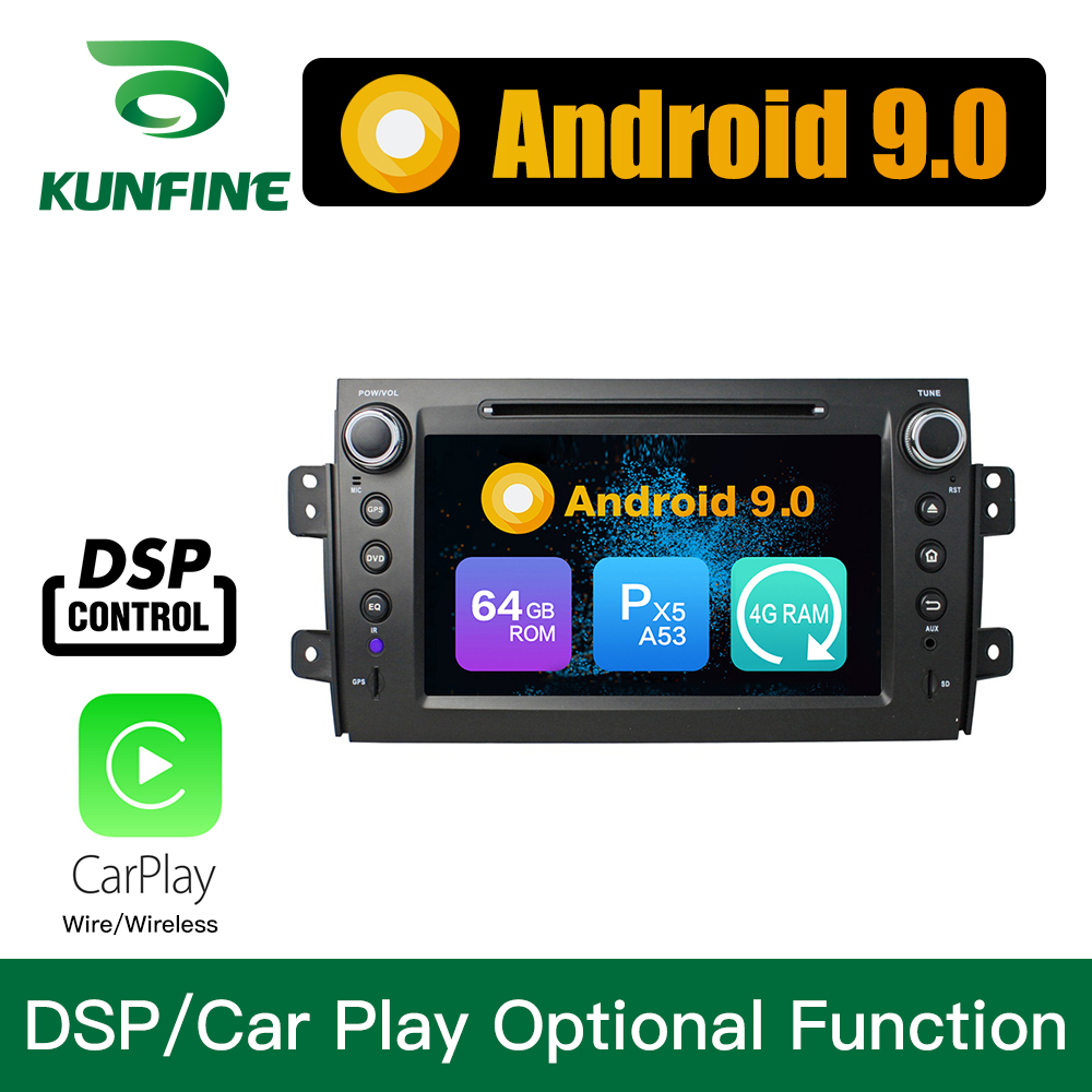 Android 9.0 Octa Core 4GB RAM 64GB ROM <font><b>Car</b></font> DVD GPS Navigation <font><b>Multimedia</b></font> Player <font><b>Car</b></font> Stereo for <font><b>Suzuki</b></font> <font><b>SX4</b></font> 2006-2012 <font><b>Radio</b></font> image