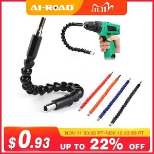 Image 1 - 295mm Flexible Shaft Hex Flex Electric Drill Universal shaft Extention Screwdriver Bit Holder Connect Rod Car Repair Tools Black
