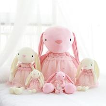 1PC 30/45CM Kawaii Simulation Rabbit Mouse with lace Stuffed Cotton Doll Push
