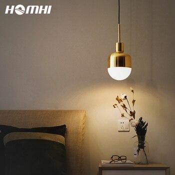 Lámpara colgante dorada de estilo europeo, iluminación moderna de metal, vintage, minivestíbulo,...