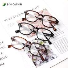 Очки для чтения boncamor мужчин и женщин модные квадратные очки