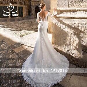 Image 2 - Sweetheartแต่งงานชุดเมอร์เมดVintageแขนยาวภาพลวงตาCourtรถไฟSwanskirt GI27ชุดเจ้าสาวเจ้าหญิงVestido De Novia