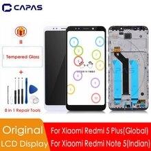 Original สำหรับ Xiaomi Redmi 5 Plus จอแสดงผล LCD + กรอบ 10 หน้าจอสัมผัสสำหรับ Redmi หมายเหตุ 5 อินเดีย LCD Digitizer เปลี่ยนชิ้นส่วน
