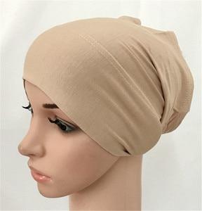 2020 soft modal inner Hijab Caps Muslim stretch Turban cap Islamic Underscarf Bonnet hat female headband tube cap turbante mujer(China)