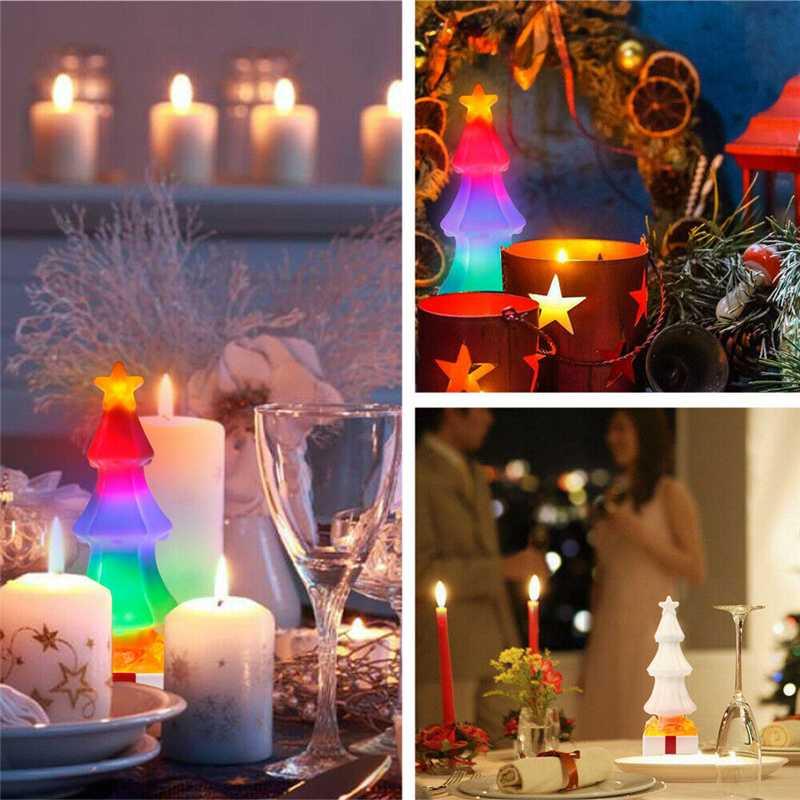 Christmas Tree Salt Garland Light Atmosphere Night Warm White Flame Lamp Decoracion Kids USB Gifts Halloween Party Decoration