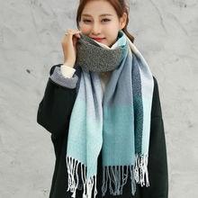 VEITHDIA 2020 Autumn Winter Female Wool Plaid Scarf Women Cashmere Scar