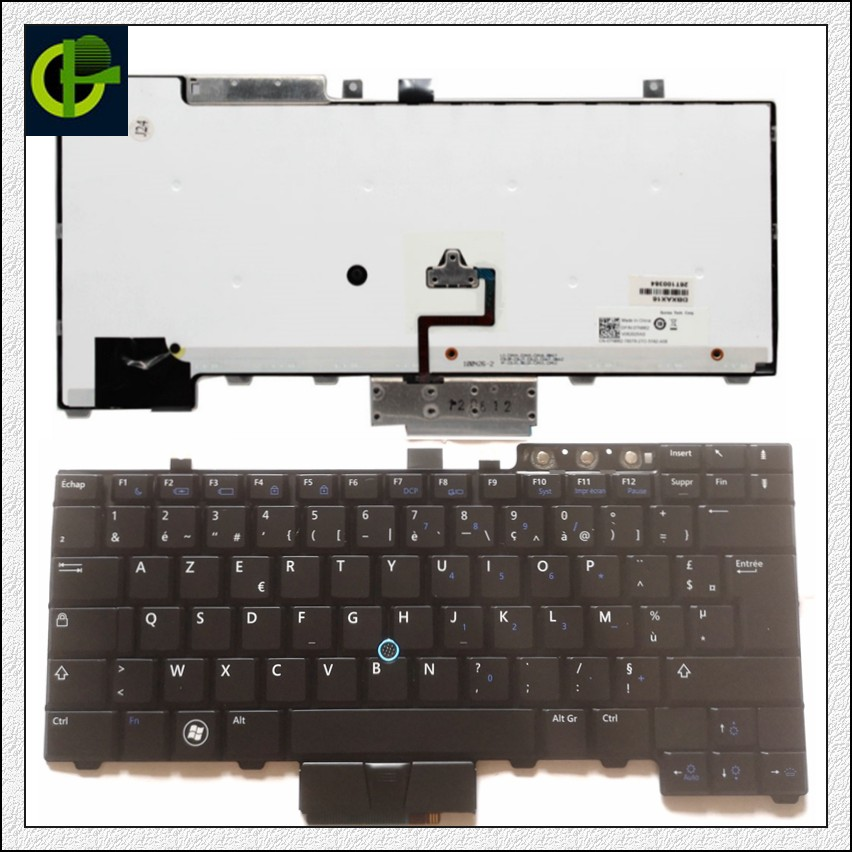 French Azerty Backlit keyboard for Dell Latitude E6400 E6410 E5500 E5510 E6500 E6510 Precision M2400 M4400 laptop FR image