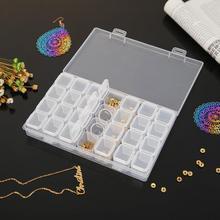 28 решеток прозрачная коробка для хранения пластиковая алмазная живопись бисер чехол для ювелирных изделий контейнер Легкие аксессуары для хранения