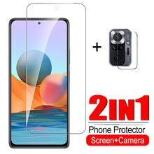 2in1 Kính Cường Lực Cho Xiaomi Redmi Note 10 Pro 10 Ống Kính Máy Ảnh Tấm Bảo Vệ Màn Hình Cho Redmi Note 10 Pro 10 kính Bảo Vệ