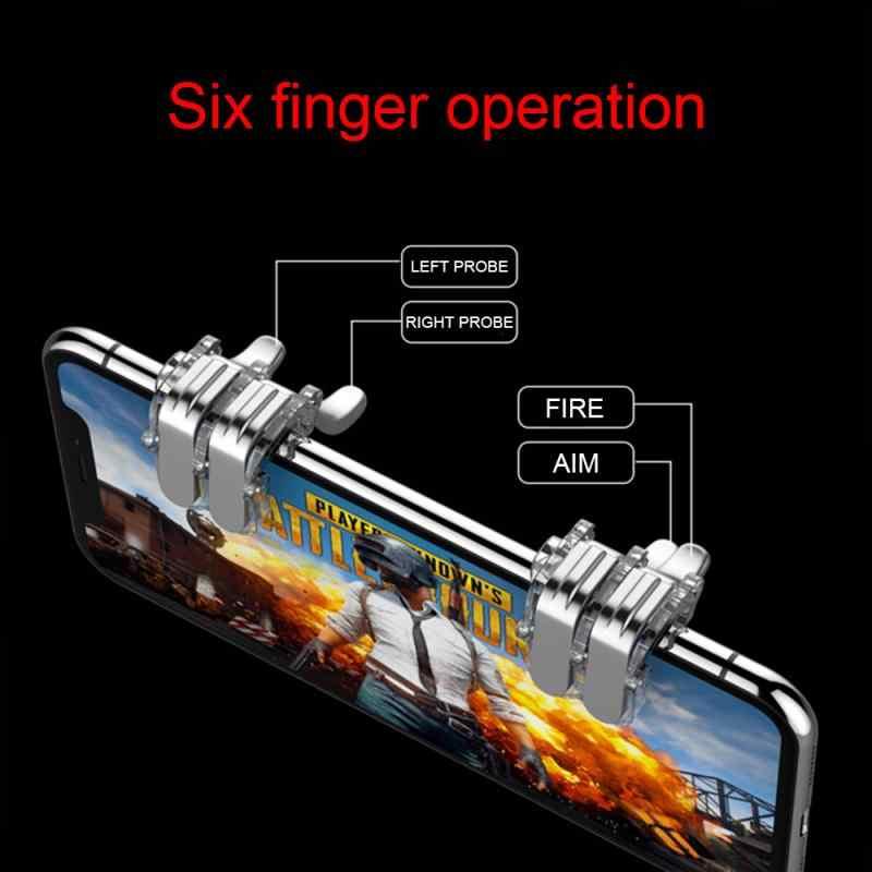 2020 R11S 金属 PUBG 携帯トリガーゲームパッドゲーム L1R1 シューター Pubg モバイルコントローラスマート電話火災ボタン目的キージョイスティック