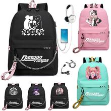 Рюкзак с USB-портом для ноутбука, с принтом медведя