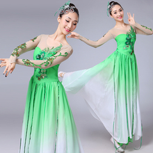 Green Flamenco Dress Adult Fairy Concert Outfits Stage Costume Classical Dance Wear Ballroom Dance Clothes Gypsy Skirt  DL7398