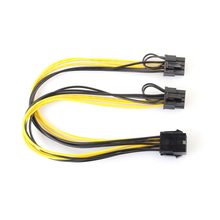Professional 8Pin to Dual 8Pin(6Pin+2Pin) SATA Power Adapter Cable PCI-E SATA Video Power Supply Cable for Graphics Card(China)