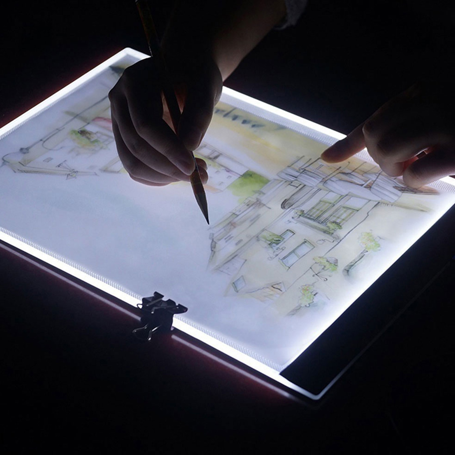 A4 Ultra-Thin Portable LED Light Box Dimmable Brightness USB Power Tracing Light Pad Board for Office  Home Drawing Sketching