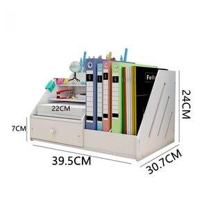 Desk Magazine Organizer Book Magazine Holder Stationery Storage Organizer Multifunctional DIY Storage Box Office School Supplies
