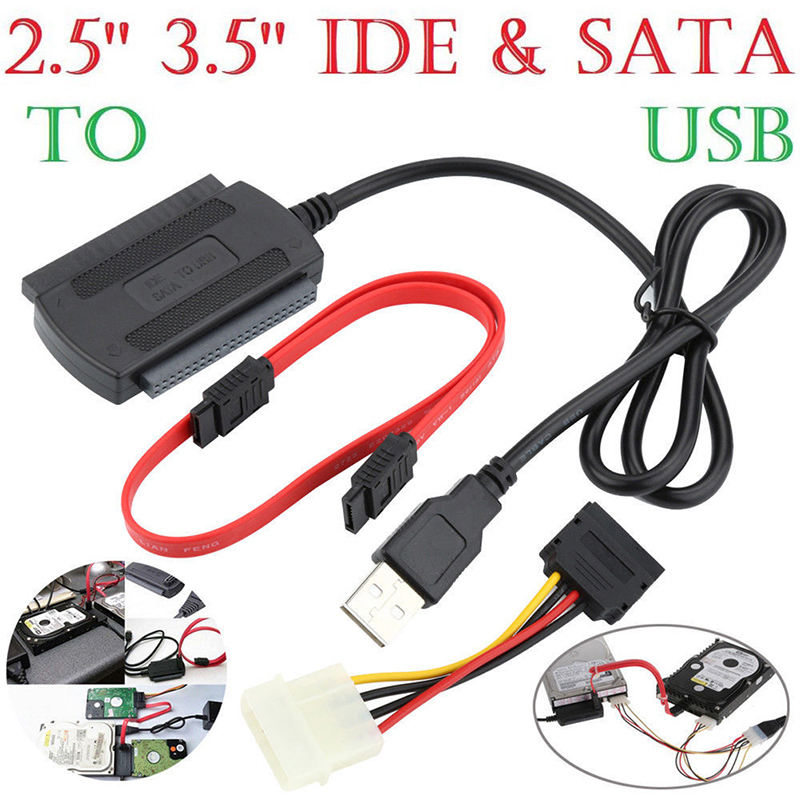 "1PC SATA/PATA/IDE Drive To USB 2.0 Adapter Converter Cable For 2.5""/3.5"" Hard Drive Computer connection and connector"