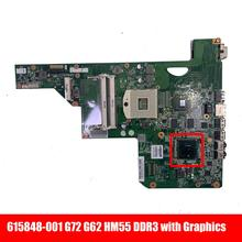 Laptop Graphics DDR3 Hp for Compaq G72 G62 Motherboard/17inch/Hm55/.. 615848-001/615849-001