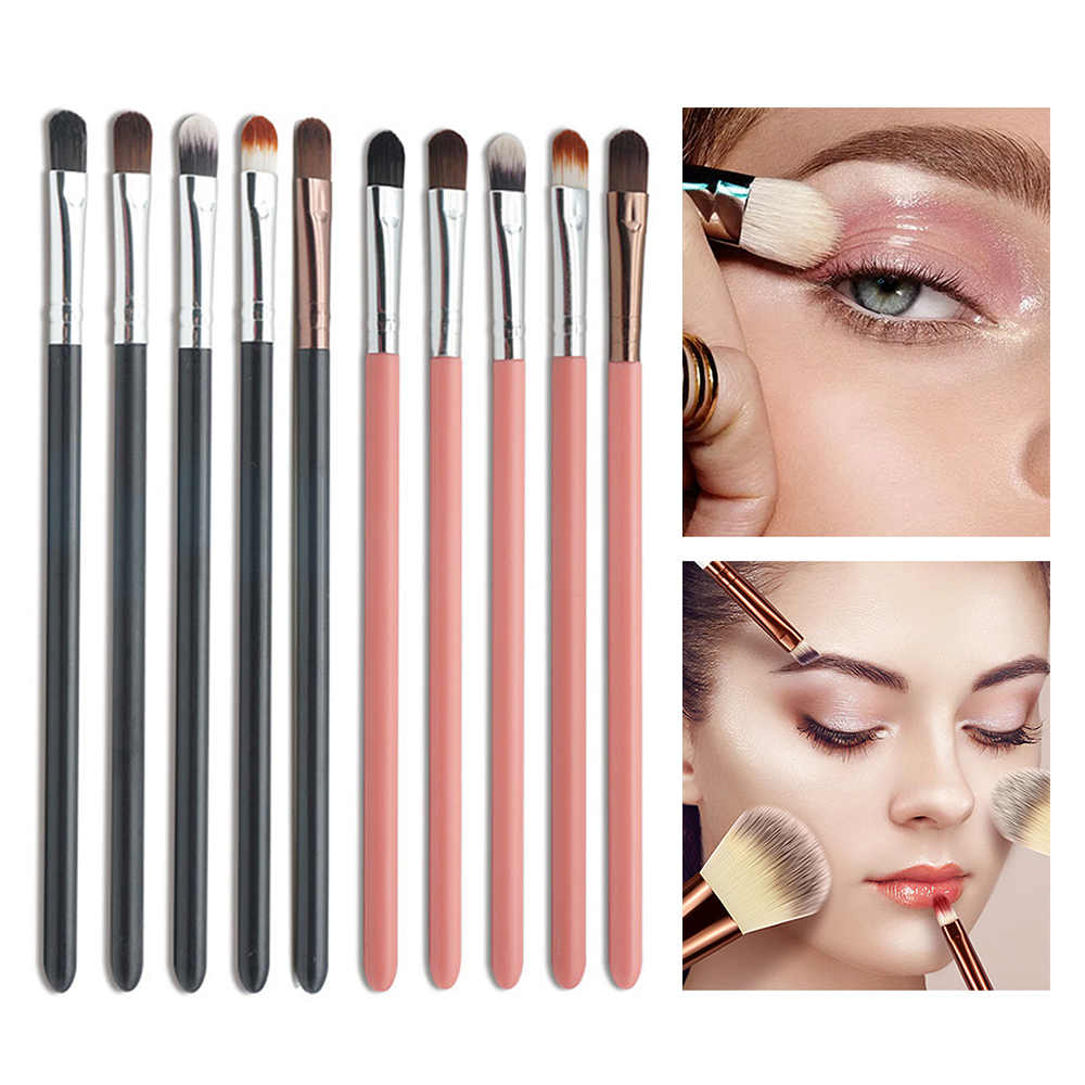 20 Pcs Makeup Brushes Set Foundation Eyeshadow Alis Bubuk Kuas Make Up Kit Kayu Handle Kosmetik Alat Rambut Sintetis Yang Lembut