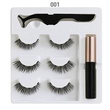 5 Magnet Eyelash Magnetic Liquid Eyeliner& False Eyelashes Set Long Lasting Tool