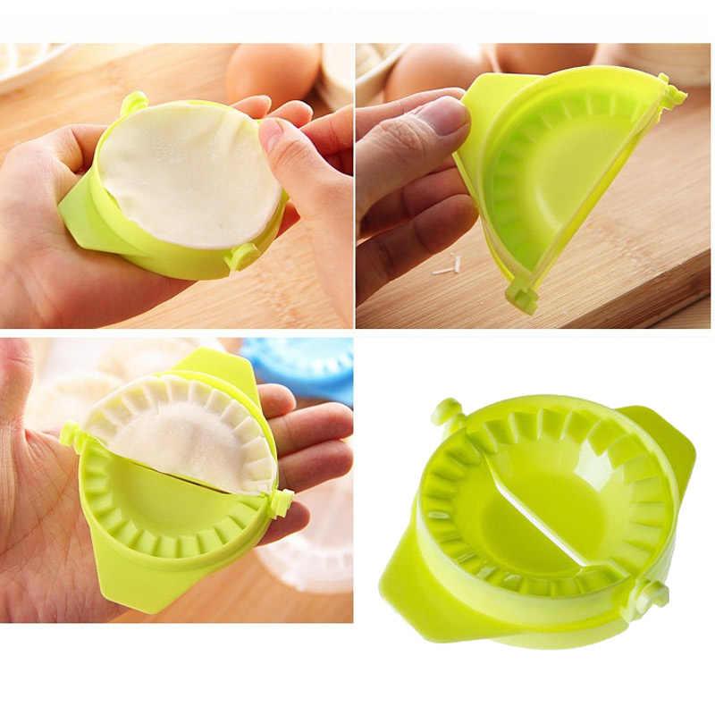 4 ชิ้น/เซ็ต DIY เกี๊ยวเครื่องมือ Dumpling แม่พิมพ์ + นวดแป้ง + Rolling Pin + กระดาษ Creative KITCHEN Gadgets