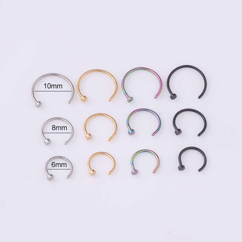 מכירה לוהטת אירופה ובאמריקה פירסינג תכשיטי 316L שימוש רפואי נירוסטה האף הרבעה האף טבעת אספקת של מוצרים 2018