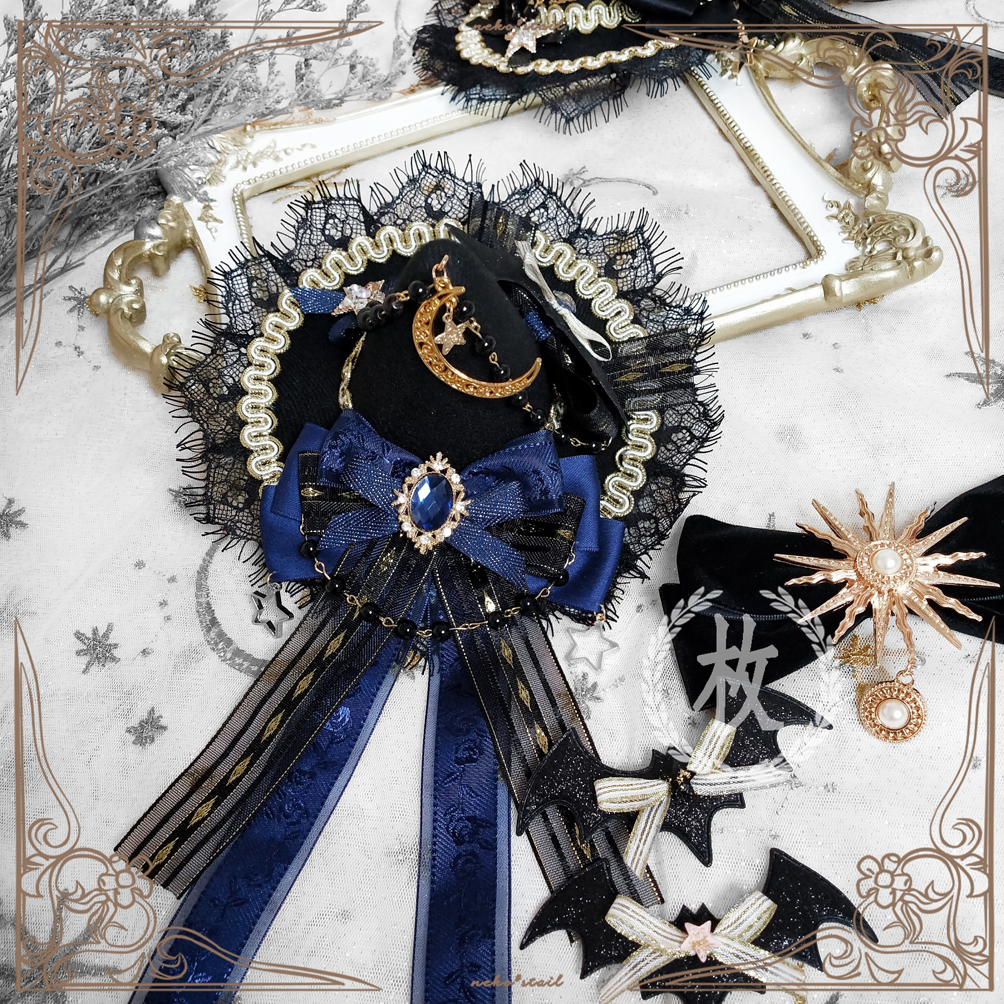 Fantasy Halloween Hair Horn Pearl beads Vintage Coffee Bezel Rim Hairstyle Princess Cute Uniqie Headpiece Wizard outfit Gothic witch Costume