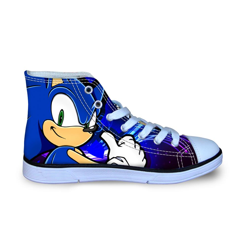 Children S Kids Sonic The Hedgehog Shoes Sneakers For Children S Girl Boys Pretty Sonic The Hedgehog Casual Flats Breath Shoes Sneakers Aliexpress