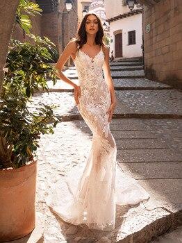 Vestidos de novia nuevos vestidos de novia 2020 cuello en V sin...
