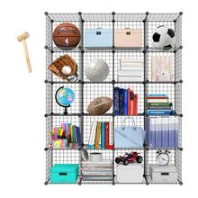 Metal Storage Bookcase Bookshelf Toy rack Industrial Decoration DIY  Shelf Organizer Home furniture Wire Standing Storage