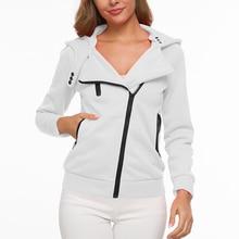 2019 New Arrivals Jacket Woman Hooded  Autumn Winter Women Thick Hoodie Zipper Casual Long Sleeve Sweatshirt Fashion