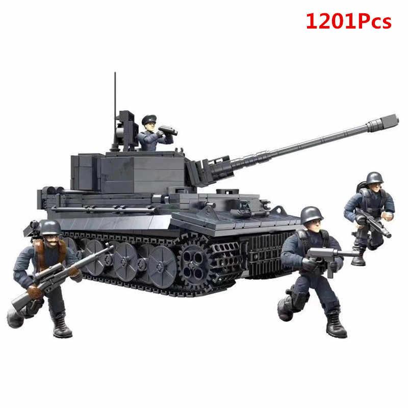 Weltkrieg 2 WW2 Soldaten M4 Sherman Deutschland Medium Tank Gepanzerten Fahrzeug Military SWAT Armee Bausteine Ziegel Spielzeug Juguetes