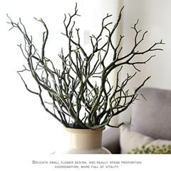 3 шт. Manzanita сухое искусственное поддельное лиственное растение ветка дерева Свадьба домашняя церковная офисная мебель зеленый белый 36 см Z - Цвет: C