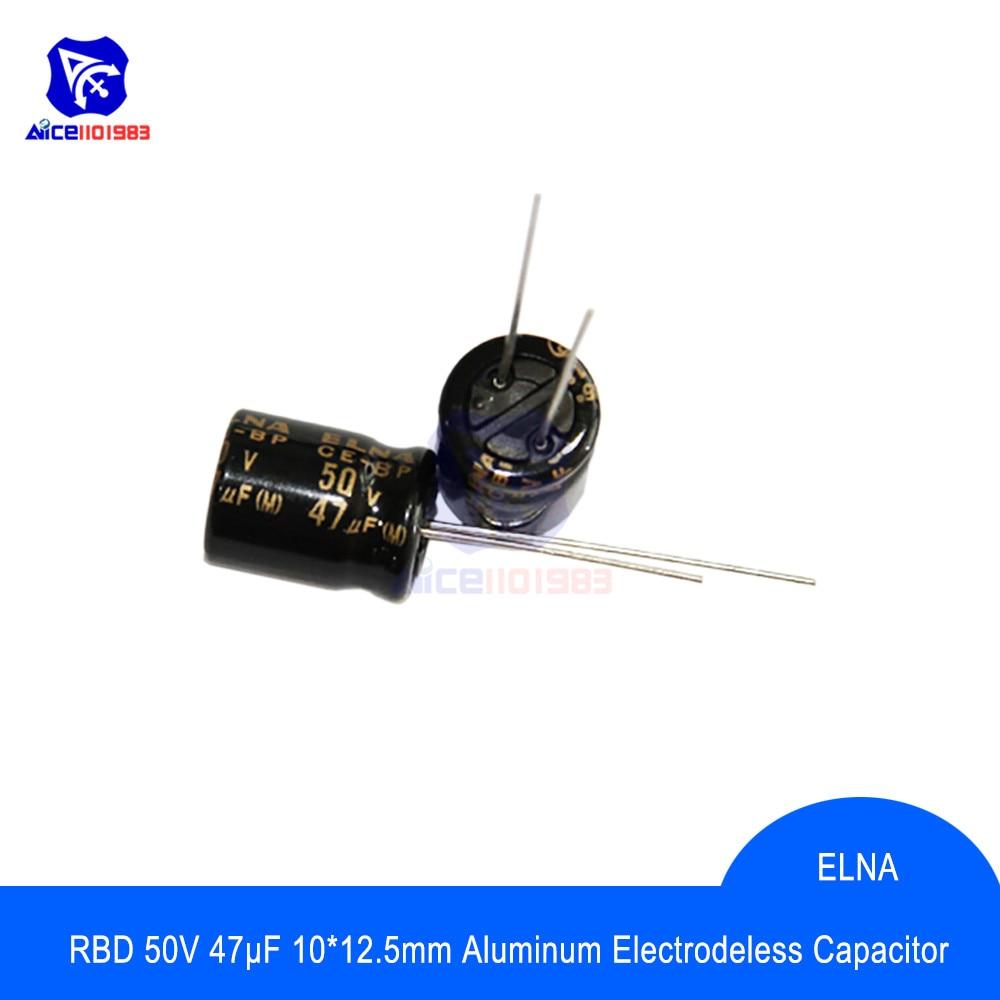 Kondensator 47 µF 50V ELNA RE3 low ESR Audio  4 STCK.
