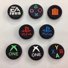 엄지 손가락 그립 캡 ABXY PS 홈 로고 조이스틱 커버 케이스 소니 Dualshock 3/4 PS3 PS4 Xbox One 360 스위치 프로 컨트롤러