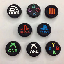 Thumb Stick Grip Cap ABXY PS Home Logo Joystick Cover Funda para Sony Dualshock 3/4 PS3 PS4 Xbox One 360 Switch Pro Controller