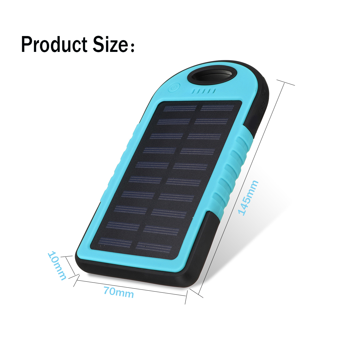 Portable 12000mAh Solar Power Bank for Charging iPhone/iPads/Android Phones/Cameras 3