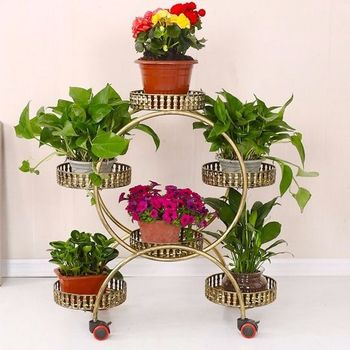 European style multilayer indoor iron living room balcony plant pot stand succulent green pineapple with flower stand decoration  - buy with discount