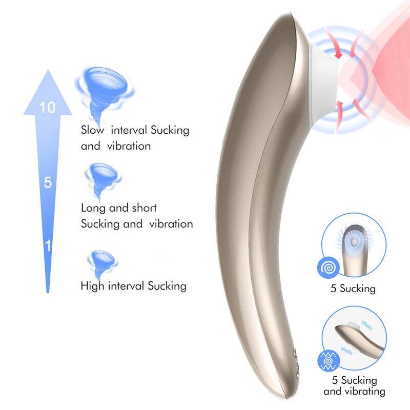 Woman Vagina Clitoris Stimulator Powerful Clit Sucker Sucking Vibrator Oral Sex Nipple Female Masturbator Sex Toys For Adults