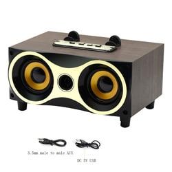 Portable Desktop Wireless Speaker Subwoofer Stereo Bluetooth Speakers Support FM Radio MP3 AUX USB For Mobile Phones TV Computer