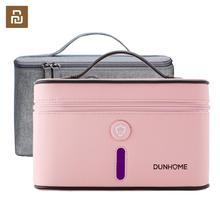 Em estoque youpin dunhome 8 w tanque desinfetante viagem ao ar livre led ultravioleta luz esterilizador ânion caixa de armazenamento saco de transporte caso