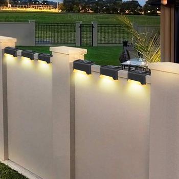 8pcs LED Solar Lamp Path Stair Outdoor Waterproof Wall Light Garden Landscape Step Lights  уличный светильник
