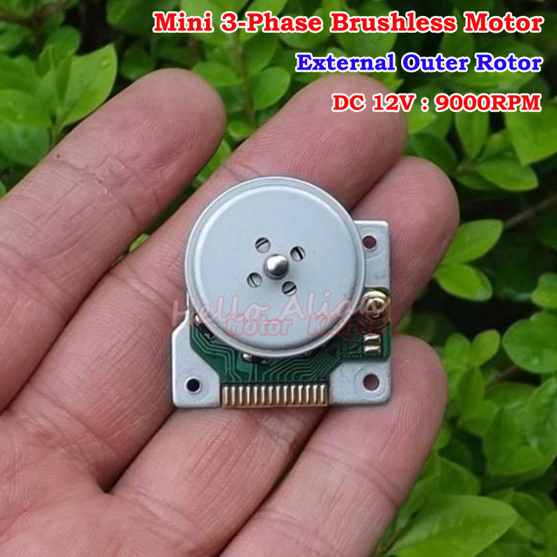 MITSUMI 3-Phase External Outer Rotor Micro DC Brushless Motor DC 12V 14000RPM
