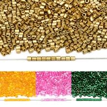 Approx.2mm Cilindrico di Vetro Seed Beads per la Collana Del Braccialetto Repubblica Perle di Vetro per Monili Che Fanno FAI DA TE Ago Commercio All'ingrosso
