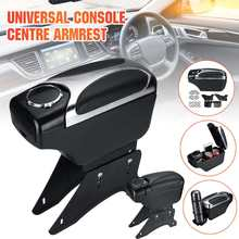 Universal Car styling Armrest Box PU Leather Adjustable Center Console Storage Box W/Cup Holder Interior Accessories